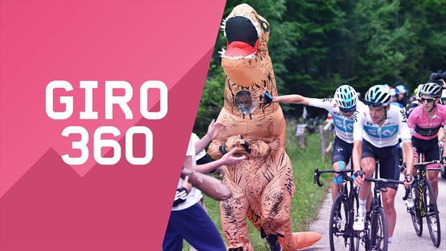 """""""Giro 360"""": Zoncolan, Froome, dinosauri... Tutto il meglio e il dietro le quinte della 14a tappa"""