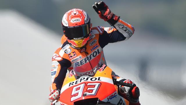 Marquez wint derde GP op een rij, drama voor Zarco