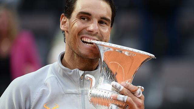 Rain delay helps Nadal down Zverev in Rome final