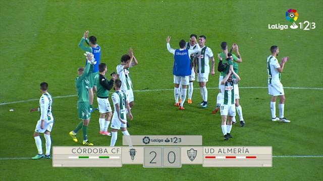 LaLiga 1 2 3, Córdoba-Almería: En el Arcángel no dejan de creer (2-0)