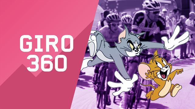 """""""Giro 360"""": Tom, Jerry e il frullatore... Tutto il meglio e il dietro le quinte della 18a tappa"""