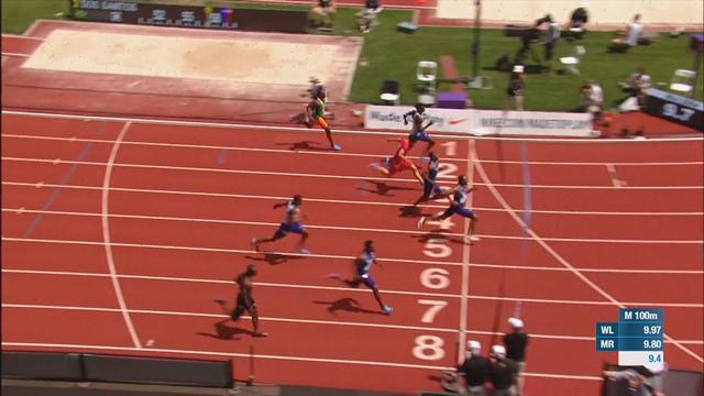 Baker wins Eugene Diamond League 100m in 9.78secs