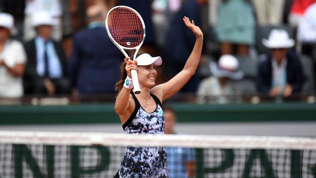 Roland Garros: Cornet-Errani 2-6, 6-2, 6-3, highlights