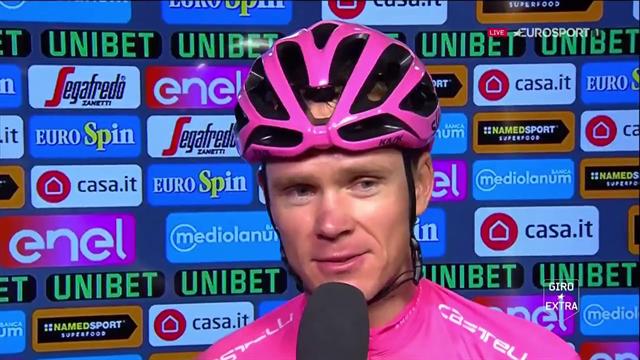 """Froome commosso: """"È incredibile aver vinto questo Giro, realizzerò più avanti"""""""