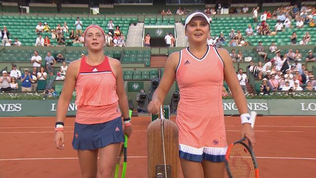 Watch: Defending champion Ostapenko knocked out of French Open by Kozlova