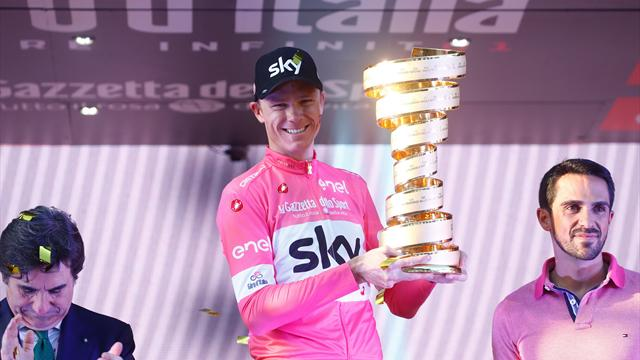 Chris Froome makes history by winning the Giro d'Italia to complete grand slam