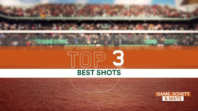 Top 3 shots of the day - featuring Nikoloz Basilashvili, Petra Kvitova and Novak Djokovic