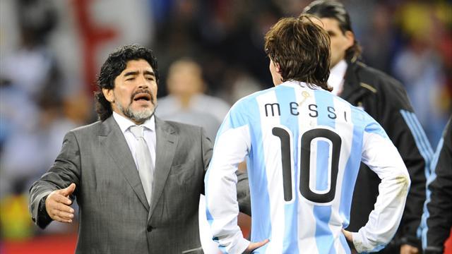 """Maradona sur Messi : """"On ne peut pas être un leader si on va 20 fois aux toilettes avant le match"""""""