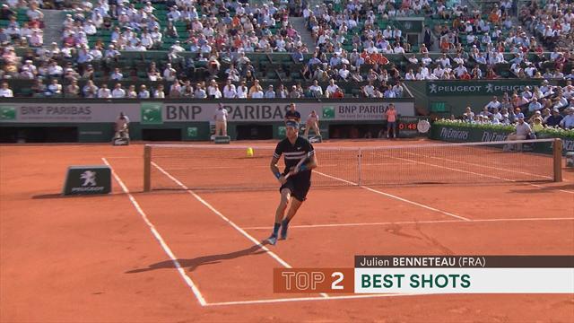 Roland Garros 2018, Top 5: Jornada de puntazos y espectáculo a raudales