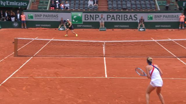 Premier voyage en quart pour Kasatkina, qui élimine Wozniacki — Roland-Garros