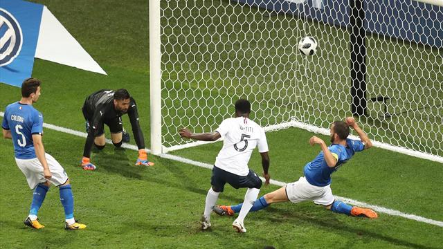 Mbappé a échoué, mais Umtiti a bien suivi : l'ouverture du score des Bleus en vidéo