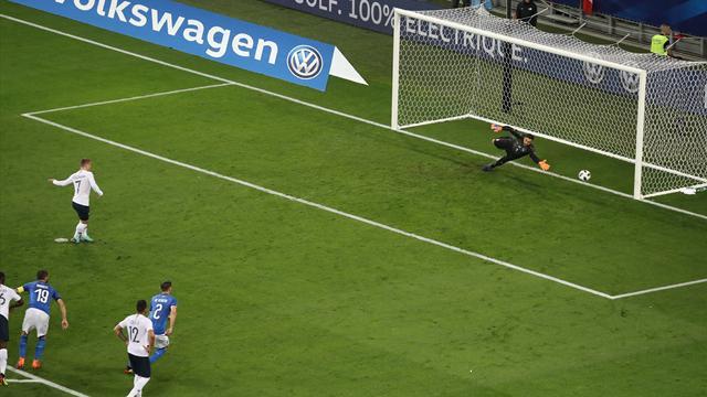 Hernandez a commencé le travail, Griezmann l'a fini sur penalty : le 2e but des Bleus