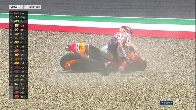 5e tour : Marquez chute et repart