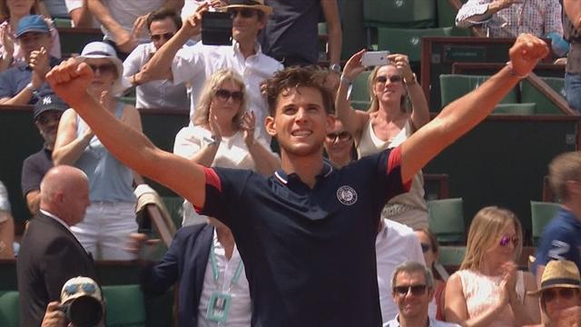 Roland-Garros: Thiem en demi-finale en battant un Alexander Zverev diminué