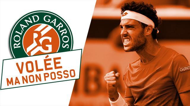 Roland Garros, storico Cecchinato: il passante di rovescio che ha steso Djokovic