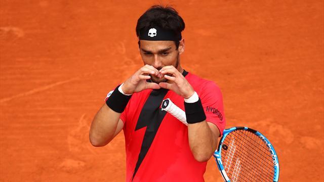 En plein match, Fognini adresse un coeur au public