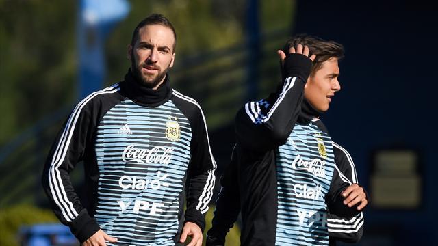 Giocatori Argentina contro ct Sampaoli
