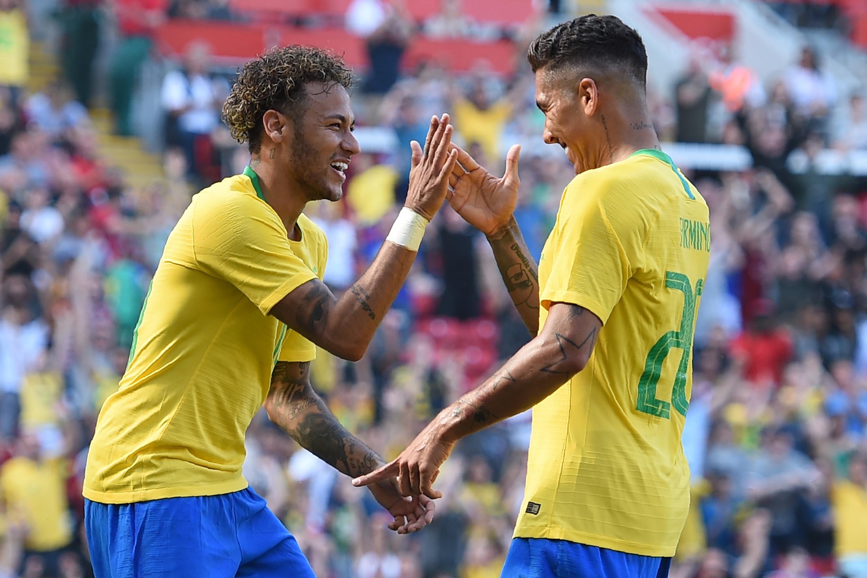 Неймар и Роберто Фирмино, сборная Бразилии