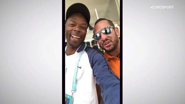 Tournoi des personnalités et Bengous en mode arbitre : la journée de Wiltord à Roland-Garros