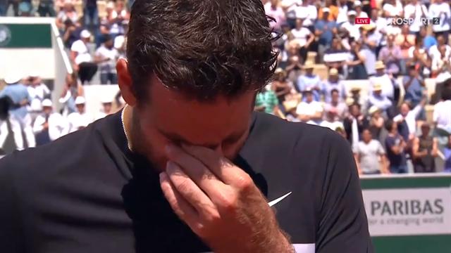 Après sa victoire contre Cilic, Del Potro a fondu en larmes