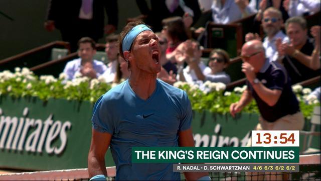 Du retour du roi Nadal à l'embrassade Keys-Stephens : la timeline de jeudi