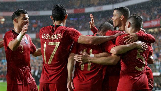 Guedes auteur d'un doublé, Ronaldo passeur : les buts de Portugal - Algérie en vidéo