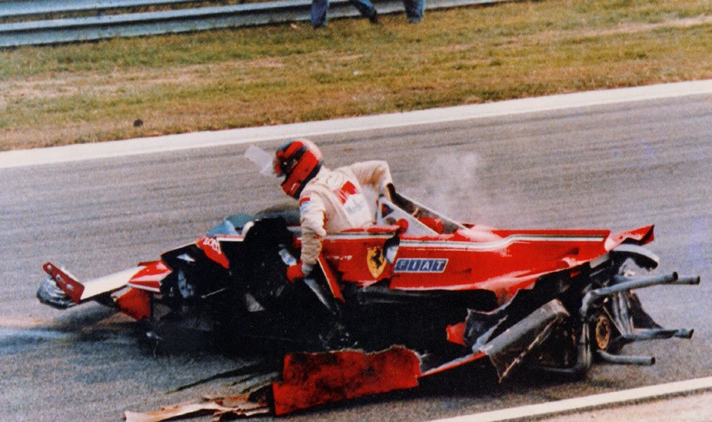 Gilles Villeneuve (Ferrari) au Grand Prix d'Italie 1980