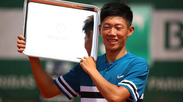 Chez les juniors, Hsin Tseng a surpris le favori Baez