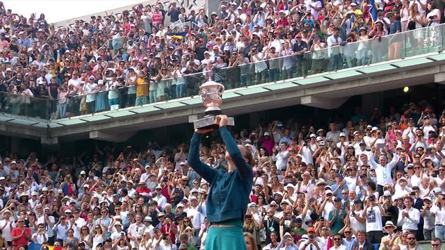 Halep lifts trophy