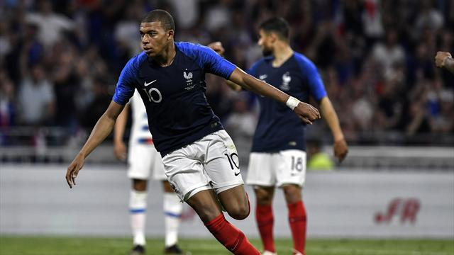 Mbappé a égalisé du plat du pied droit et remis la France à l'endroit