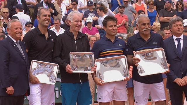Roland Garros: Bahrami e Santoro battono McEnroe e Pioline nella finale del doppio legends