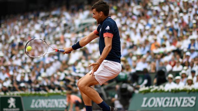 Nadal applauds as Thiem blitzes winner