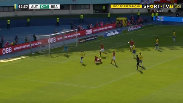 Неймар посадил на попу защитника и забил гол-шедевр Австрии. Бразилец в зверской форме перед ЧМ