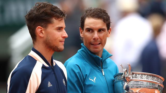 """Thiem : """"J'ai préféré regarder Nadal depuis mon canapé"""""""
