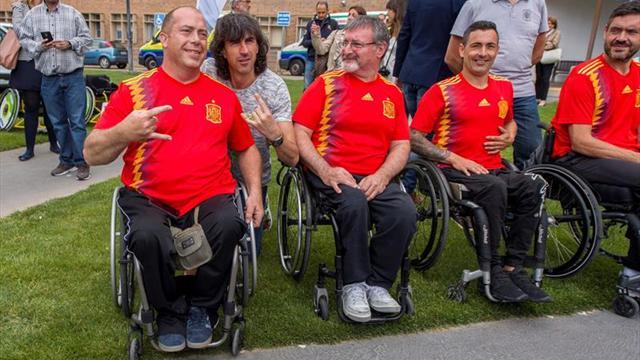El nuevo deporte A-ball se da a conocer en el Hospital de Parapléjicos