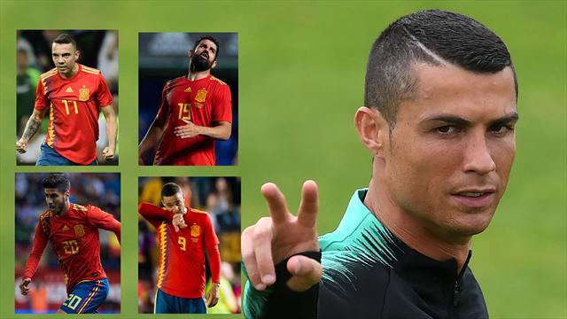 Portugal-España: La duda del nueve contra el mejor siete del mundo