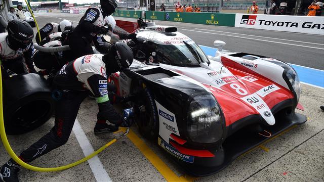 24 Horas de Le Mans: Actividad frenética en el box de Toyota para tener listos sus dos coches