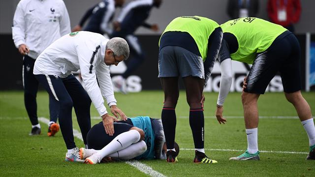 """Mbappé rassurant après avoir quitté l'entraînement sur blessure : """"C'est juste un coup"""""""