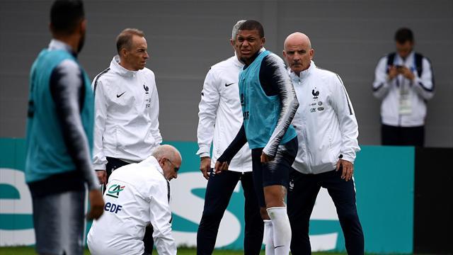 Le moment où Mbappé a tenté de reprendre malgré sa blessure, avant de renoncer