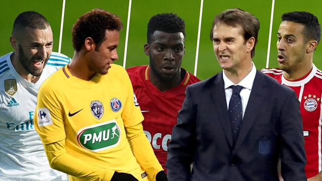 Benzema, Neymar, Lemar, Lopetegui y Thiago, los nombres del día