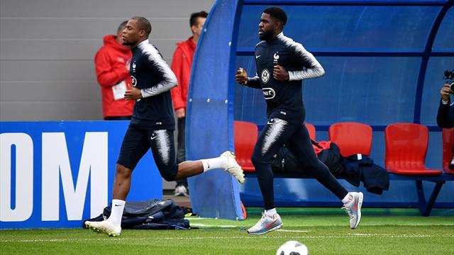Djibril Sidibé a repris l'entrainement collectif avec les Bleus