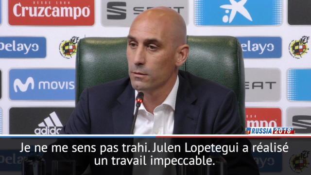 """Espagne - Rubiales : """"Je ne me sens pas trahi par Lopetegui mais... """""""