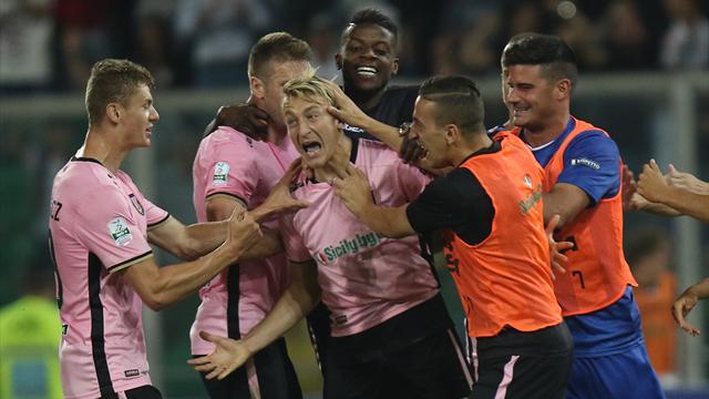 Al Palermo la finale di andata per la conquista della Serie A: 2-1 al Frosinone con super La Gumina
