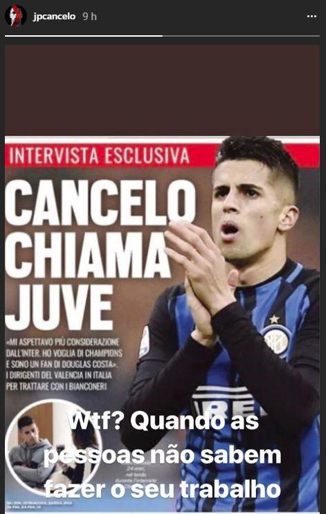Joao Cancelo vs. Tuttosport