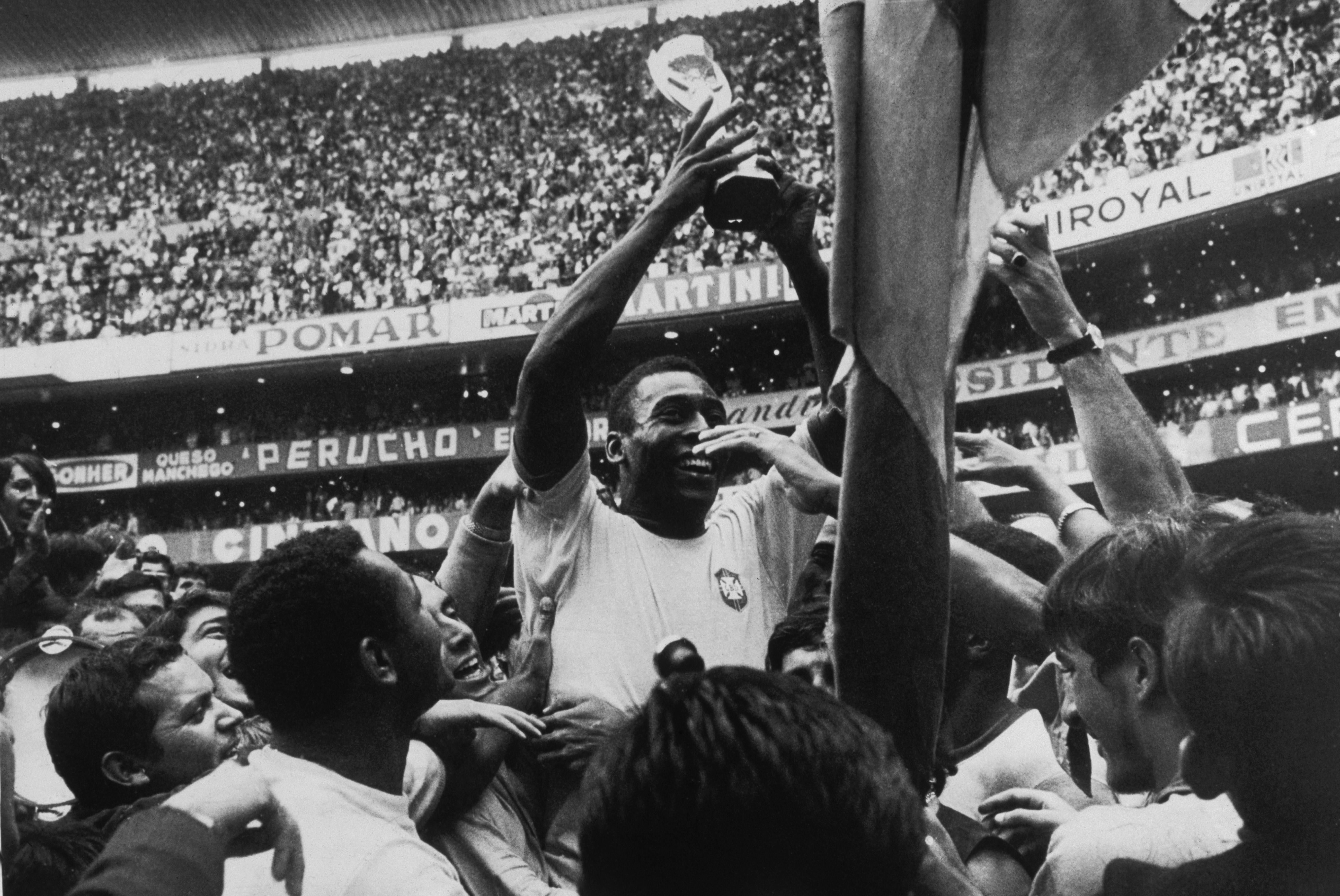 Pelé, en el Mundial de 1970