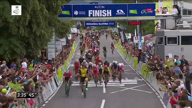 Groenewegen domina lo sprint, sua la seconda tappa del Giro di Slovenia, quarto Consonni