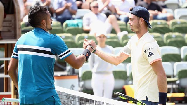 Krygios wins in first match after injury break