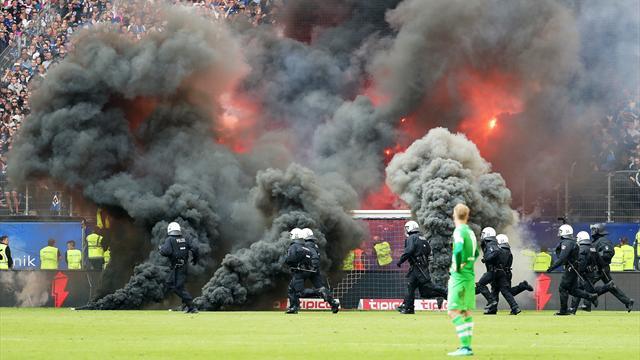 Krawalle am letzten Spieltag: Empfindliche Geldstrafe für den HSV