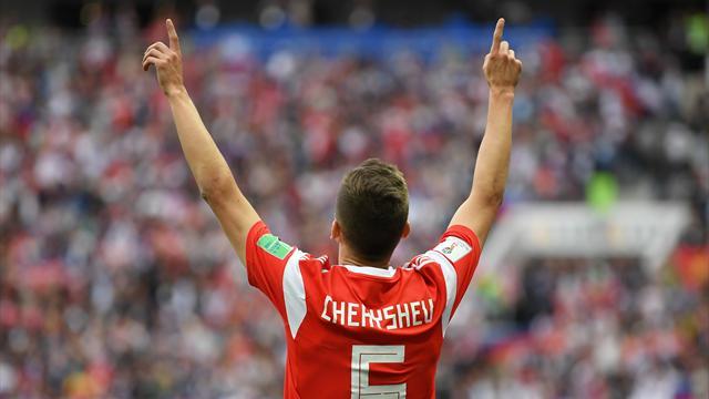 Mundial Rusia 2018: Cheryshev lidera a la anfitriona con dos golazos en el estreno (5-0)
