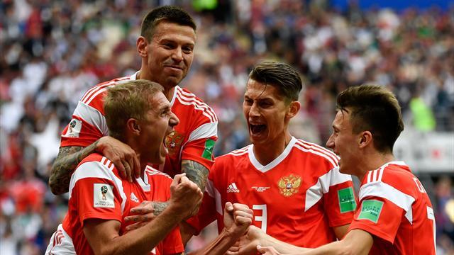 Mundial Rusia 2018, Rusia-Arabia Saudí: Goleada mundialista para empezar (5-0)